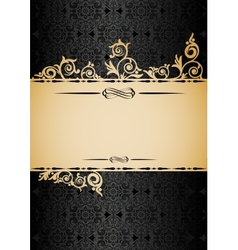 Retro paper background with seamless ornament and vector image vector image