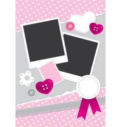 vintage frame for photos vector image vector image