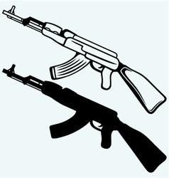 Assault rifle ak47 vector image vector image