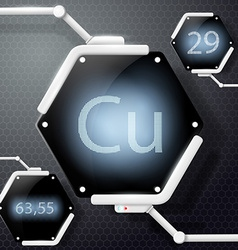 chemical element copper vector image