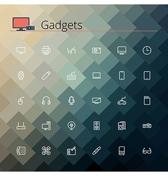 Gadgets Line Icons vector image vector image