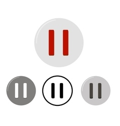 Set of pause buttons vector image