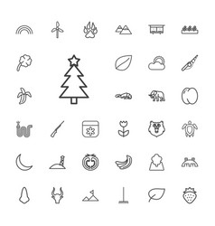 33 nature icons vector