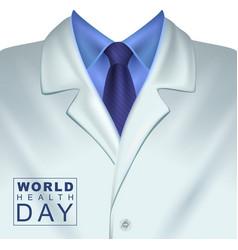 7 april world health day white doctors coat vector image