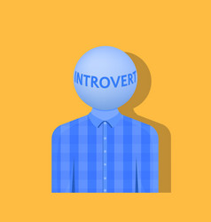 A man with a ball instead of a head the vector