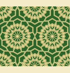 abstract background with arabic geometric ornament vector image