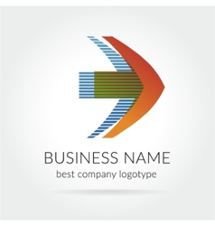 Abstract colored logtype for company branding vector