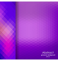 Abstract violet geometric pattern of hexagons vector
