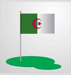 alegeria flag pole vector image
