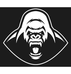 Angry gorilla symbol vector image