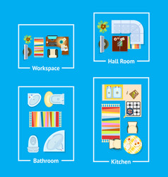 apartment interior design vector image vector image