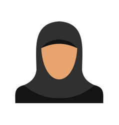 Arabic woman icon flat style vector