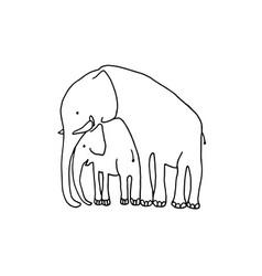 baand mother elephant cartoon vector image