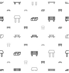 Bench icons pattern seamless white background vector