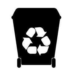big containers for recycling waste sorting vector image