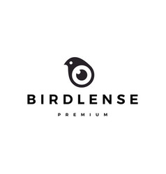 bird eye lens camera logo icon vector image