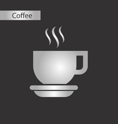 black and white style coffee cup vector image