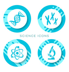 blue science icons isolated vector image