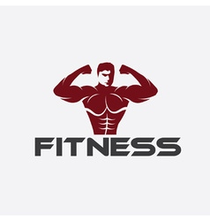 Bodybuilder Fitness Model vector image