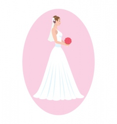 bride vector image