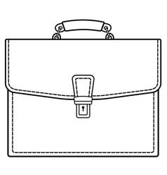 Brief case contour icon vector