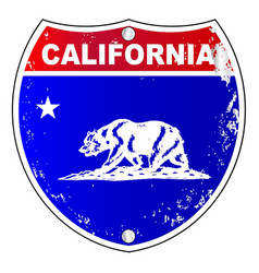 california interstate sign vector image