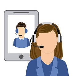 call center vector image