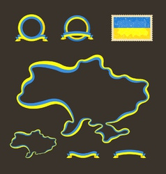 colors ukraine vector image