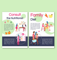 Consulting nutritionist brochure template flyer vector