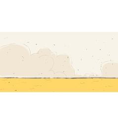 Cute Desert Landscape vector