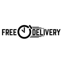 Delivery text with a clock vector