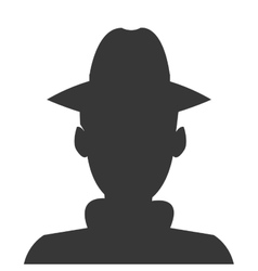 Detective or spy silhouette icon vector