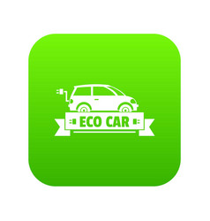 eco car icon green vector image