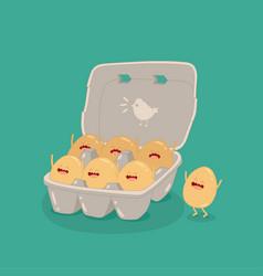 Eggs carton box funny image vector