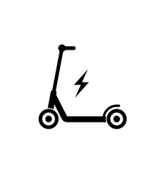 electric scooter icon simple design vector image