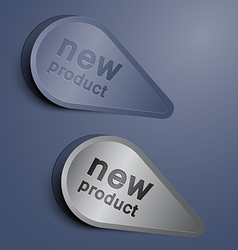 elegant new label vector image