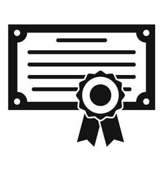 Exam diploma icon simple style vector