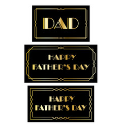 fathers day art deco frames vector image