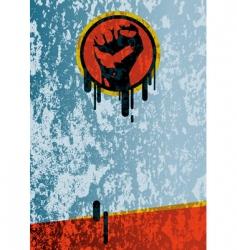 fist grunge background vector image