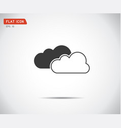 flat cloud icon abstract logo vector image