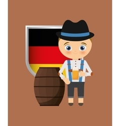 German oktoberfest cartoon vector