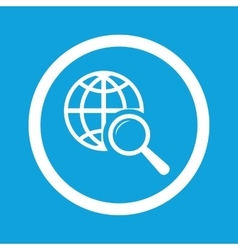 Global search sign icon vector