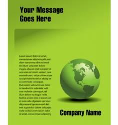 Globe page vector
