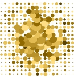 Gold geometric background vector