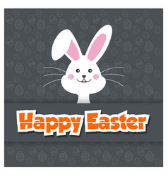 happy easter greetiongs card design vector image