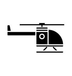 helicopter icon black sign vector image