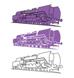 image of old steam locomotives vector image