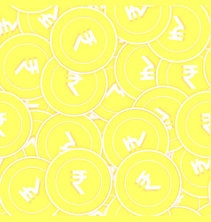 Indian rupee gold coins seamless pattern dramatic vector