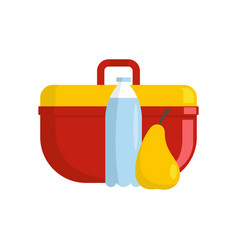 Lunchbox icon flat style vector