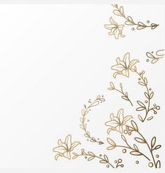 luxury flower background template vector image